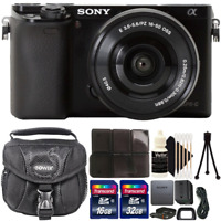 Sony Alpha A6000 Wi-Fi Digital Camera Black with 16-50mm Lens and Accessory Kit