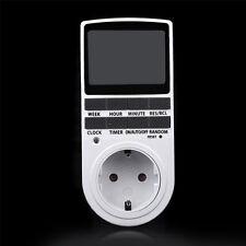 Digitale Zeitschaltuhr Steckdose Wochenzeitschaltuhr 7 Tage Schalter Timer 16A