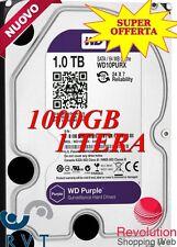 HARD DISK 1 TERA  WD Purple hard disk per la videosorveglianza 1000 Gb  TOP