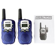 2x Mini Niños Walkie-talkies Retevis RT-388 UHF 0.5W 8CH Radio Portátil Toys LCD