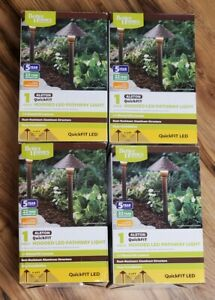 (4 Pack) Better Homes and Gardens Alston Quick Hooded LED Outdoor Pathway Light