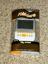 SEALED Radica Big Screen Solitaire Game w/ Lighted Screen Yellow Mattel 2010