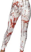Women's Halloween Blood Stain Horror Leggings (White)