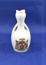 CLIFTON CHINA CRESTED WARE TWO HANDLED VASE TULIP STYLE OPENING CITY OF CARDIFF