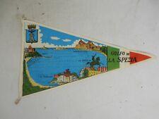 """Vintage Oldtimer Andenken Wimpel pennant """" Golfo de La Spezia  """" Wohnwagen etc."""
