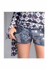 Shorts Di Jeans Con Paillettes Denny Rose Taglia L