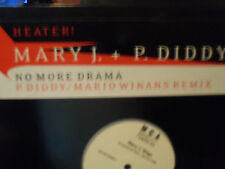 "Mary J. Blige P. Diddy ""No More Drama"" Single Vinyl LP  Mario Winans Remix PROMO"