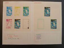 Guinea 1972 fases impresiones Olympia Kiel navegar Olympics muestras imperf rare! z2351
