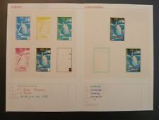 GUINEA 1972 PHASENDRUCKE OLYMPIA KIEL SEGELN OLYMPICS PROOFS IMPERF RARE! z2351