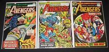 AVENGERS lot of 3 comics #140 Fn+, 143 Fn & 146 Fn+ all 25¢ cover Marvel