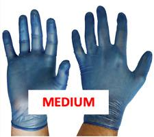 Gloves Handcare Vinyl Medium Lalan 94mm Blue FOOD Grade powder free | Box of 100