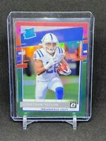 Jonathan Taylor 2020 Donruss Optic Preview Red and Green Prizm Rated Rookie Card