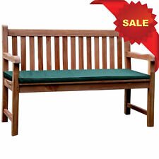 KYOTO CHUNKY SOLID TEAK WOOD 1.3m GARDEN PARK BENCH WOOD SEAT CHAIR MEMORIAL