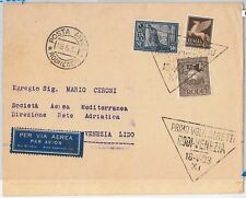 65316 - storia postale - PRIMI VOLI  cat. LONGHI # 2827: RODI - VENEZIA 1933