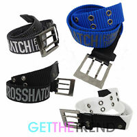 Crosshatch Designer Mens Canvas Belt Mens Branded Buckle Belt Belts S M L XL