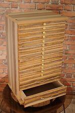 Bac Monnaie bal14 collectionneurs collection cabinet de 14 bacs noyer baltimore