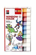Marabu KiDS Window Color 10er Set farbig sortiert gelb rot braun blau grün weiß
