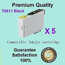 5x Black ink cartridge 81/81N 82N for Stylus RX690 TX650 TX700W TX710W TX800FW