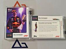 2020 Topps Now Formula 1 F1 #23 Max Verstappen Aston Martin Red Bull Abu Dhabi
