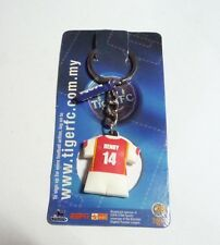 ARSENAL Keychain THIERY HENRY #14 Ring TIGER BEER MALAYSIA 2006 Football Rare