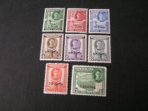 SOMALILAND PROT. SCOTT # 116-123(8), 1951 KGVI DEFINITIVE SURCHARGED ISSUE MH