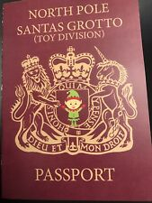 Elf Passport. Prop for use with (not associated) Elf on The Shelf.
