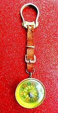 VINTAGE 1950'S NOVELTY WORKING ROULETTE WHEEL KEYCHAIN - ITALY