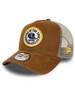 New Era Fabric Patch Trucker Cap in Brown