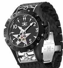 New Mens Watchstar American Star Open Heart Automatic Black 48mm 21 Jewel Watch