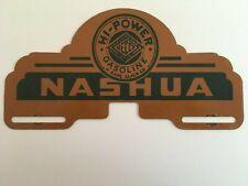 1940s Hi Power Heccolene Gas Gasoline License Plate Topper Nashua New Hampshire
