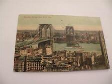 ANTIQUE POSTCARD BROOKLYN BRIDGE NEW YORK POSTED 1909 GREAT CONDITION