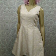 Modcloth Yumi Floral Jaquard Sleeveless Retro Dress Size 6/8 EUR 40 pale Pink