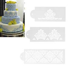 3X Spitze Hochzeitstorte Ausstechform Schablone Dekor Tortenrand Fondant Cake