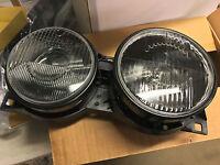 Headlight set for BMW E34 Headlights Pair DARK style Lights Smoke Smoked Black