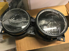 E34 Headlights Pair HELLA DARK style Headlight Lights Smoke Smoked Black M5 BMW
