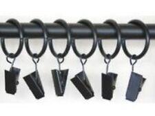 Black Metal Croc Ring Clip (x 6 clips)