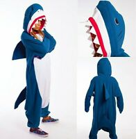 Unisex Adult Kids Sleepwear Shark Pajamas Kigurumi Cosplay Costume Fancy Dresses