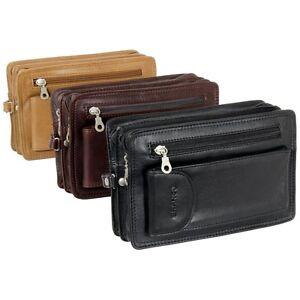 Branco Handgelenktasche Herrentasche Leder Farbwahl: schwarz, braun oder natur