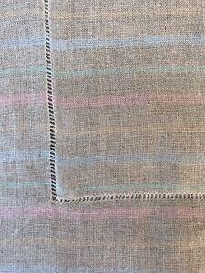 Sferra  Boudoir Sham W/Pink, Blue & Green Yellow Stripes On Taupe  NEW