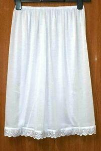 New ladies half slip white Underskirt UK SIZE 12-16 / XL petticoat Waist Slip