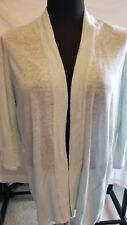 CHICO'S WOMEN'S 3/4 SLEEVE OPEN FRONT SWEATER CARDIGAN LIGHT BLUE SIZE 0 NWT