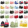 3-5pc/Set Women Canvas Backpack Teenage Girl Travel Shoulder School Book Bag LOT