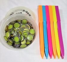 LOT 6 magnetic wands bingo chips teacher math resource manipulatives