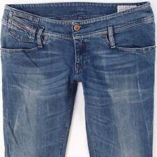 Ladies Womens Diesel MATIC 0883A Stretch Skinny Blue Jeans W30 L34 UK Size 10