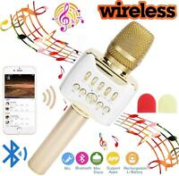 Bluetooth5.0 Handheld Microphone Speaker 2 in1 USB Charging For Home KTV Karaoke