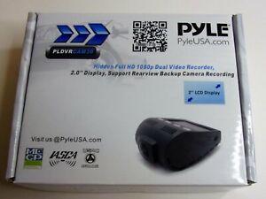 "NEW Pyle DVR Video Recording Dash Cam 1080p HD with 2"" LCD Monitor, MicroSD Slot"