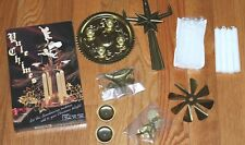 NEW Vintage style Brass Angel Chimes Windmill w/extra candles Spinning Decor