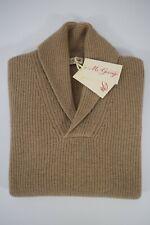 McGEORGE maglione UOMO maglia pullover COLLO SCIALLATO lana CAMMELLO A/I 2019/20