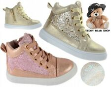 Glitter Girls shoes high HI TOP ankle trainers toddler size 7-11 UK KIDS sparkly