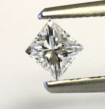 IGI loose certified princess diamond .37ct SI1 F 4.12x3.89x2.85mm vintage estate